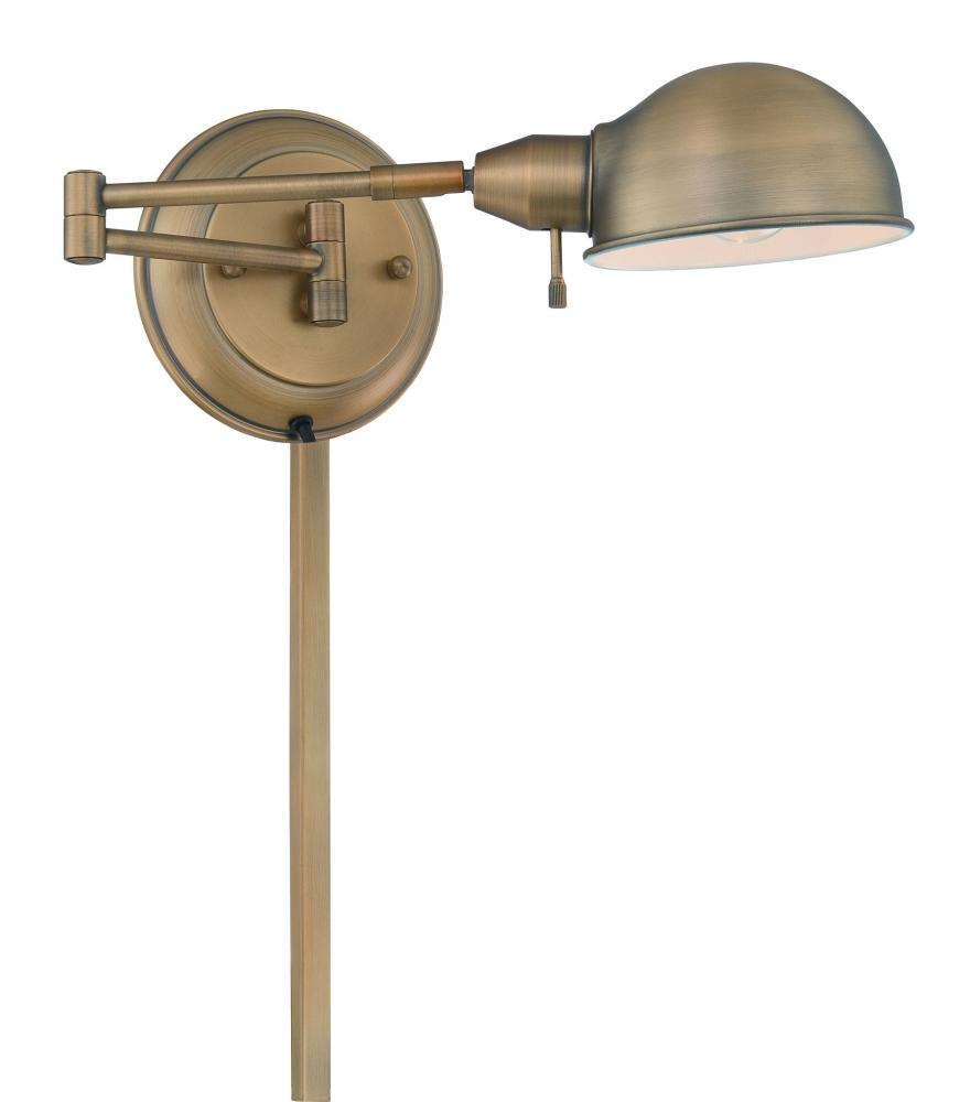 Lite Source Inc. LS-16753AB - #Swing-Arm Wall Lamp, Ab, E27 Cfl 13W