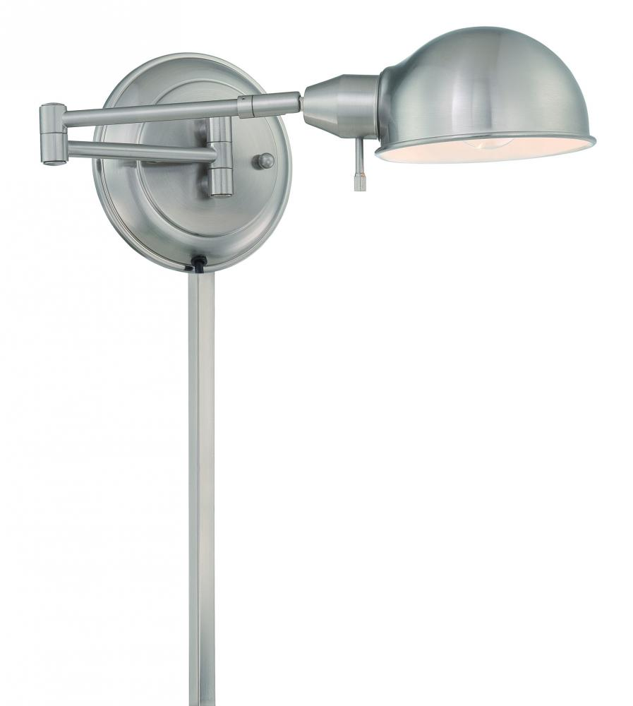 Lite Source Inc. LS-16753PS - #Swing-Arm Wall Lamp, Ps, E27 Cfl 13W