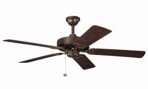 Kichler 339520TZP - Tannery Bronze Powder Coat Outdoor Fan