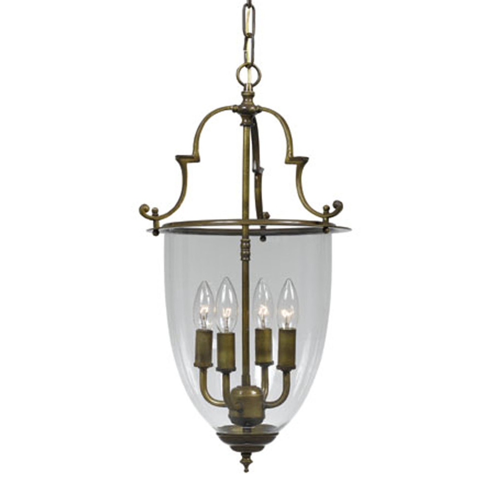 Crystorama 974-AU - Crystorama Camden 4 Light Antique Brass Lantern I
