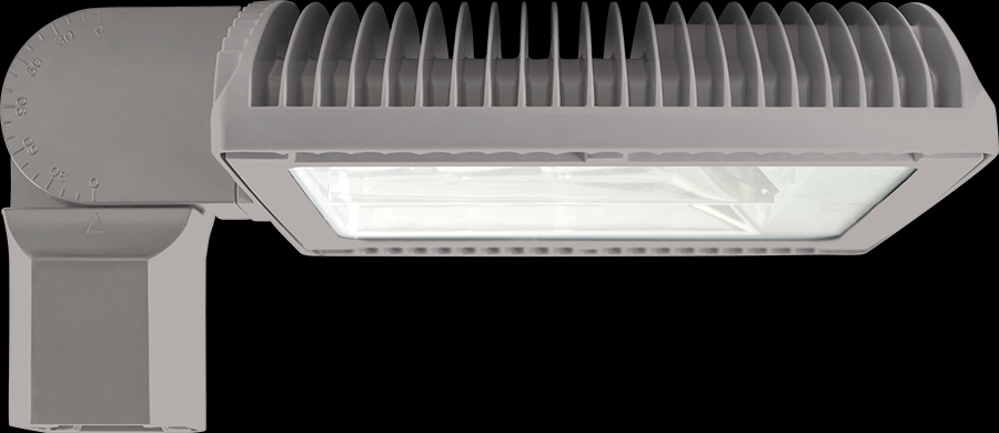 RAB Lighting ALED3T125SFNRG/D10 - ALED125 TYPE III W/ SLIPFITTER NEUTRAL LED DIM RD GRAY