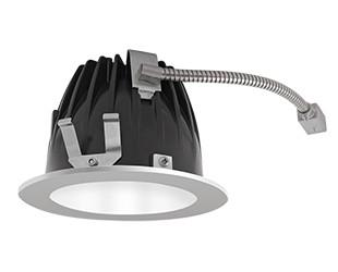 "RAB Lighting NDLED6R-80Y-W-S - FINISHING SEC 6"" ROUND 3000K LED 80 DEGREES WHITE CONE SILVER RING"