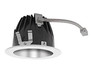 "RAB Lighting NDLED6R-80YY-S-W - FINISHING SEC 6"" ROUND 2700K LED 80 DEGREES SPECULAR CONE WHITE RING"