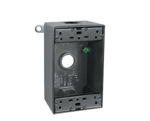 "RAB Lighting B3A - WEATHERPROOF SINGLE OUTLET 3 HOLE BOX 1/2"" BRONZE"