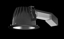 "RAB Lighting RDLED6R20L-80Y-S-B - REMODELER 6"" ROUND 20W 3000K DIM LUTRON 80 DEGREES SPECULAR CONE BLACK RING"