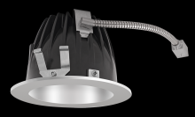 "RAB Lighting NDLED4R-50YY-M-S - FINISHING SEC 4"" ROUND 2700K LED 50 DEGREES MATTE CONE SILVER RING"