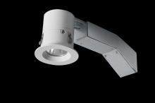 "RAB Lighting RDLED2R8-20Y-TW - REMODELER 2"" ROUND 8W 3000K DIMMABLE TRIAC 20 DEGREES 1/2"" TRIM WHITE RING"