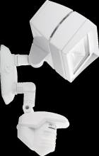 RAB Lighting STL3FFLED18W - LSTEALTH FFLED18 18W COOL LED WITH STL360 SENSOR WHITE