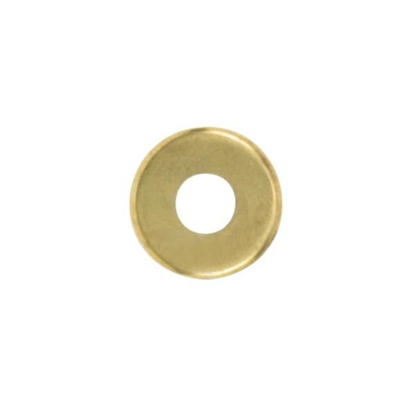 Satco Products Inc. 90/2061 - Steel Check Ring Curled Edge 1/8 IP Slip - Brass Plated 1-3/8""