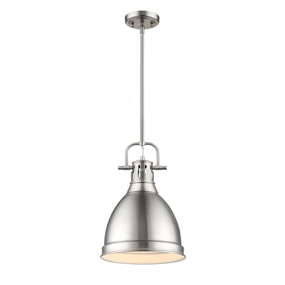 Golden 3604-S PW-PW - Small Pendant with Rod
