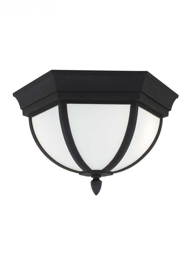 Sea Gull 79136-12 - Two Light Outdoor Ceiling Flush Mount