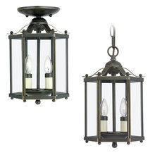 Sea Gull 5232-782 - Two Light Semi-Flush Convertible Pendant