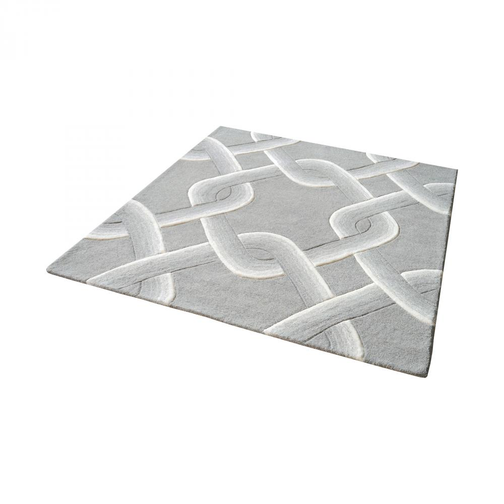 Dimond 8905-193 - Desna Handtufted Wool Rug In Grey - 16-Inch Squa
